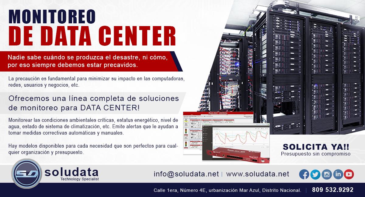 ofertas soludata monitoreo data center
